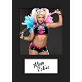 ALEXA Bliss WWE # 3(FBA) A5autografo stampa FRAME SMART