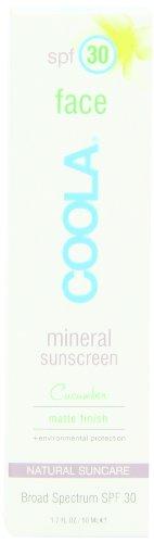 Coola Visage minérale SPF 30 Lotion écran solaire, Matte concombre, 1,7 once