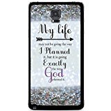 Price comparison product image Glitter Background with Quote My Life May Not Be Going the Way I Planned Cute Fashion Slim Thin Protective Glossy Silicone TPU Gel Skin Back Shell Case Cover for iPhone 5 5s