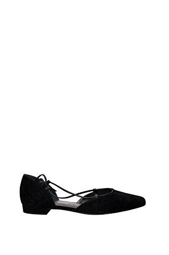 Stuart Weitzman Dames Gilligan Ballet Plat Zwart Suède