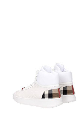 Herren Burberry 403817 EU Weiß Leder Sneakers 1wTSx5Y5