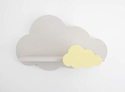 Nube Estantería Gris con Nube Amarilla: Amazon.es: Handmade