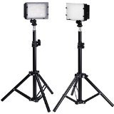 Neewer Photography 126 LED Studio Lighting Kit, including (2)CN-126 Ultra High Power Panel Digital Camera DSLR Camcorder LED Video Light (2)32''/80cm Tall Photography Mini Light Stand