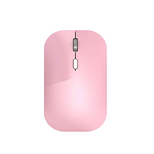 CQIANG Mouse, Wireless Mute Mouse, Two-Speed Adjustable DPI, Home Silent Silent Office Mouse Pink Suitable for laptops, PCs, Macs (Gaming mice) (Color : Pink)