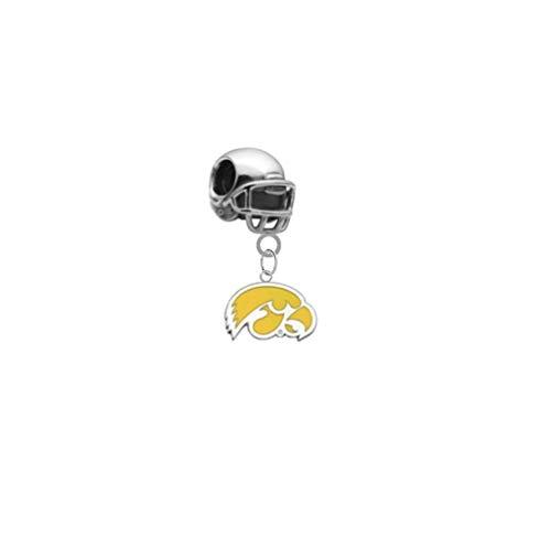 Iowa Hawkeyes Style 2 Football Helmet 3D Universal European Bracelet Charm -