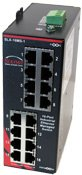 (Sixnet 16 ports; managed; 16 FE RJ45 Standard Industrial Ethernet Managed and Ring DIN-Rail Switches. Model: SLX-16MS-1)