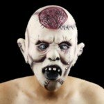 Halloween Costume Make-up Fancy Props Halloweeen Scary Blasting Brain Mask