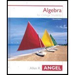 img - for Elementary Algebra for College Students - Early Graphing (2nd, 04) by Angel, Allen R [Hardcover (2003)] book / textbook / text book