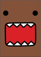 - Domo-Kun Full Face - Button Magnet
