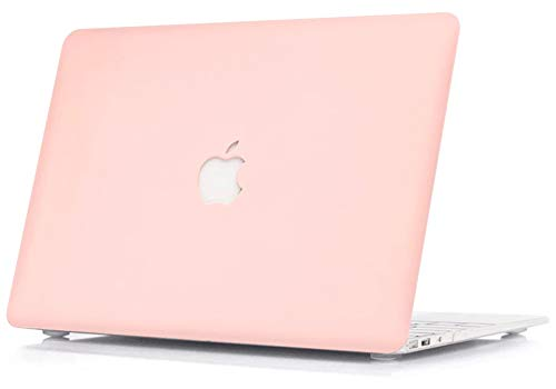 """LuvCase 3 in 1 Laptop Case Compatible with Old MacBook Pro 13"""" Retina Display (2015/2014/2013/2012) A1502/A1425HardShellCover, Keyboard Cover & Screen Protector(Rose Quartz)"""