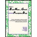 Guide to Brand Name and Generic Prescription Drugs, Gary A. Holt and Becky Baker, 0944496415