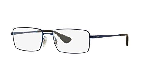 Ray Ban Optical Montures de lunettes RX6337M Pour Homme Matte Black, 53mm 2510: Matte Blue