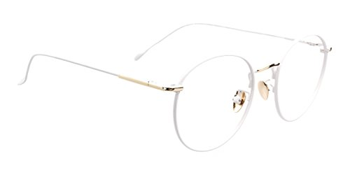 TIJN Women Full Rim Round Metal Circle Eyeglasses Thin Frame