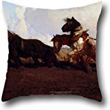 Pillow Shams 18 X 18 Inches / 45 By 45 Cm(two Sides) Nice Choice For Club,chair,kids,christmas,living Room,bedding Oil Painting George W Lambert - Across The Black Soil Plains