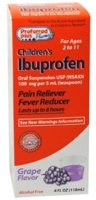 Ibuprofen Childrens Oral Suspension, Pain Reliever Fever Reducer, Grape Flavor By KPP - 4 Oz ()