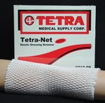 Tetra-Net Elastic Dressing Retainer Size 9, One 25 yd Roll per Box, Latex-Free, Fits: Large chest, back, perineum, axilla