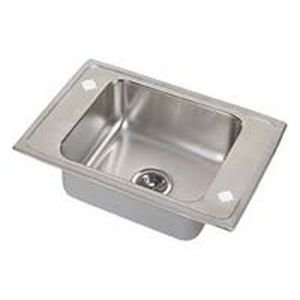 Elkao|#Elkay PSDKADQ2517654 Elkay 20 Gauge Stainless Steel 25 Inch x 17 Inch x 6.5 Inch single Bowl Top Mount Quick-Clip Sink, 4 Faucet - Stainless Steel Elkay Classroom Sinks