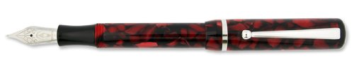 Edison Beaumont Bordeaux Flake Broad Point Fountain Pen - ED-BEAU-BX-B