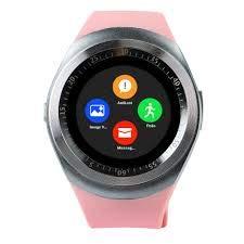 d2e14c3e2ea Relógio Smartwatch Y1 Original Celular Inteligente Touch Bluetooth Chip  Ligações Pedômetro Câmera (ROSA)