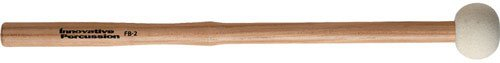 Innovative Percussion FB2 Hard Marching Bass Drum Mallets with Heartwood Hickory Shafts