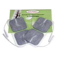 Premium Electrodes 10 Packs of 4 Electrodes Each with Preferred Comfortable White Cloth with Covidien® Gel Adhesive for Multiple Application by Eco-Patch®