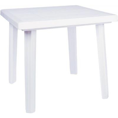 Compamia Cuadra Resin Square Dining Table in White