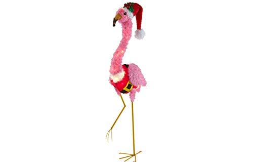 Holiday Time Light-Up Fluffy Flamingo (Pink Fluffy Flamingo) - 2018