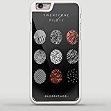 blurryface Album Cover Twenty One pilotos Diseño Tya para Samsung Galaxy S y iPhone Case, iPhone 6/6S PLUS blanco