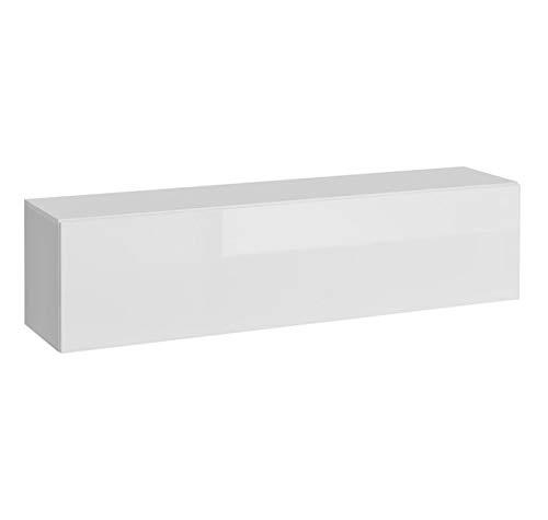 muebles bonitos Mobile pensile Modello Martina P H140x35 (140x35cm) Bianco