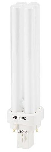 Philips Lighting 383307 PL-C Non-Integrated Linear Compact Fluorescent Lamp 16.5 Watt 4-Pin G24q-2 Base 1200 Lumens 82 CRI 3000K
