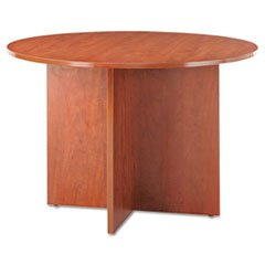 Alera ALEVA7142MC Valencia Round Conference Table with Legs, 29-1/2h x 42 dia., Medium Cherry by Alera