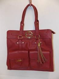 IMAN GLOBAL CHIC CLASSIC COUTURE ICONIC TASSLE TOTE - RED