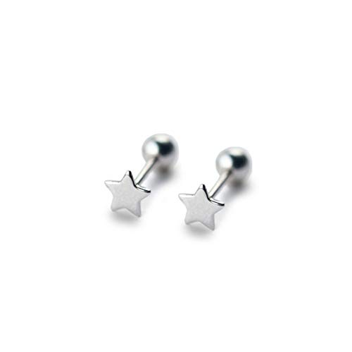 Star Cartilage Earring Stud - ZETSHION Sterling Silver 20G Little Star Cartilage Earrings Tragus Helix Barbell Piercing Studs Ear Post for Women Teen Girls