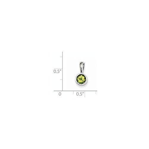 0.55 Ct Peridot Pendant - 4