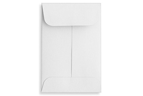#3 Coin Envelopes (2 1/2 x 4 1/4) - 24lb. Bright White - Pack of 50 Rile Products