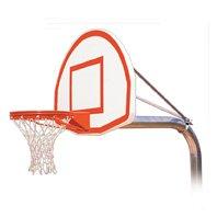 最初チームRuffneck max-ext steel-aluminum in ground固定高さバスケットボールsystem44 ;オレンジ B01HC0E2UY