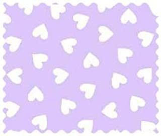 product image for SheetWorld 100% Cotton Percale Fabric by The Yard, Hearts Pastel Lavender Woven, 36 x 44