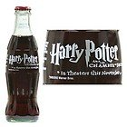 HARRY POTTER and the CHAMBER OF SECRETS Coca-Cola Classic Coke Glass Bottle 8 oz (2002) Full, Unopened