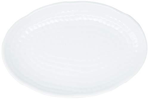 Travessa Oval Texture, 21x14cm, Branco, Haus Concept