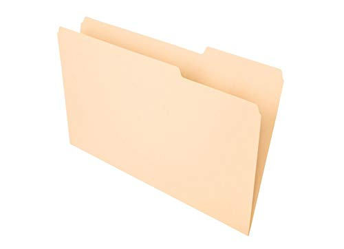 Office Depot File Folders, 1/3 Tab Cut, Right Position, Legal Size, 30% Recycled, Manila, Pack of 100, OD753 1/3-3 ()