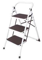 Industrial Grade 12M627 Step Stool, 3 Step, Ht 48 In, Steel