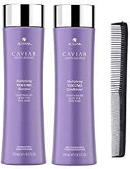 New Alterna CAVIAR Anti-Aging Multiplying Volume Duo 8.5 Oz Each With Free Comb