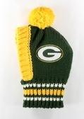 Green Bay Packers Pet Pom Headwear (Large) (Green Bay Packers Hat Scarf)