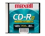 Maxell CD-RB 700 MB SHINY GOLD - Single Disc by Maxell