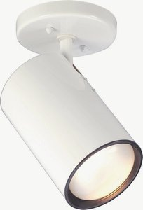 Nuvo Lighting 76/418 One Light Straight Cylinder Lamp, White - Straight Light Fixture Cylinder
