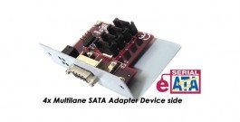 Multilane or Infiniband Device adapter Host side - 4x SATA ports