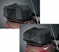 Kuryakyn 4162 Deluxe Convertible Black Luggage Rack Bag with Protective - Convertible Rack