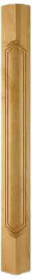 Plain Cherry Column (Plain French Carved Corner Post, Cherry)