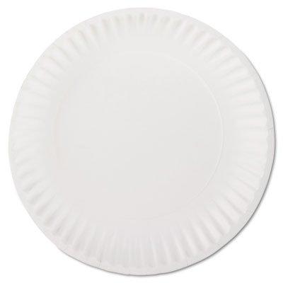 Plates Uncoated Paper (AJM PP9GREWHPK White Paper Plates 9