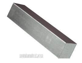 Bright mild steel 1/2' square bar x 500mm